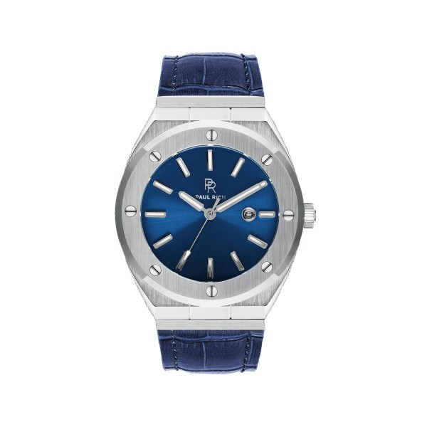 Paul Rich Deep Dive blue leather watch