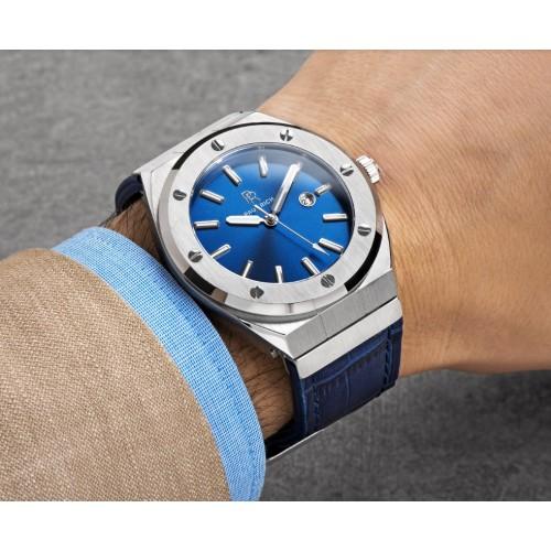 Paul Rich Blå læder ur