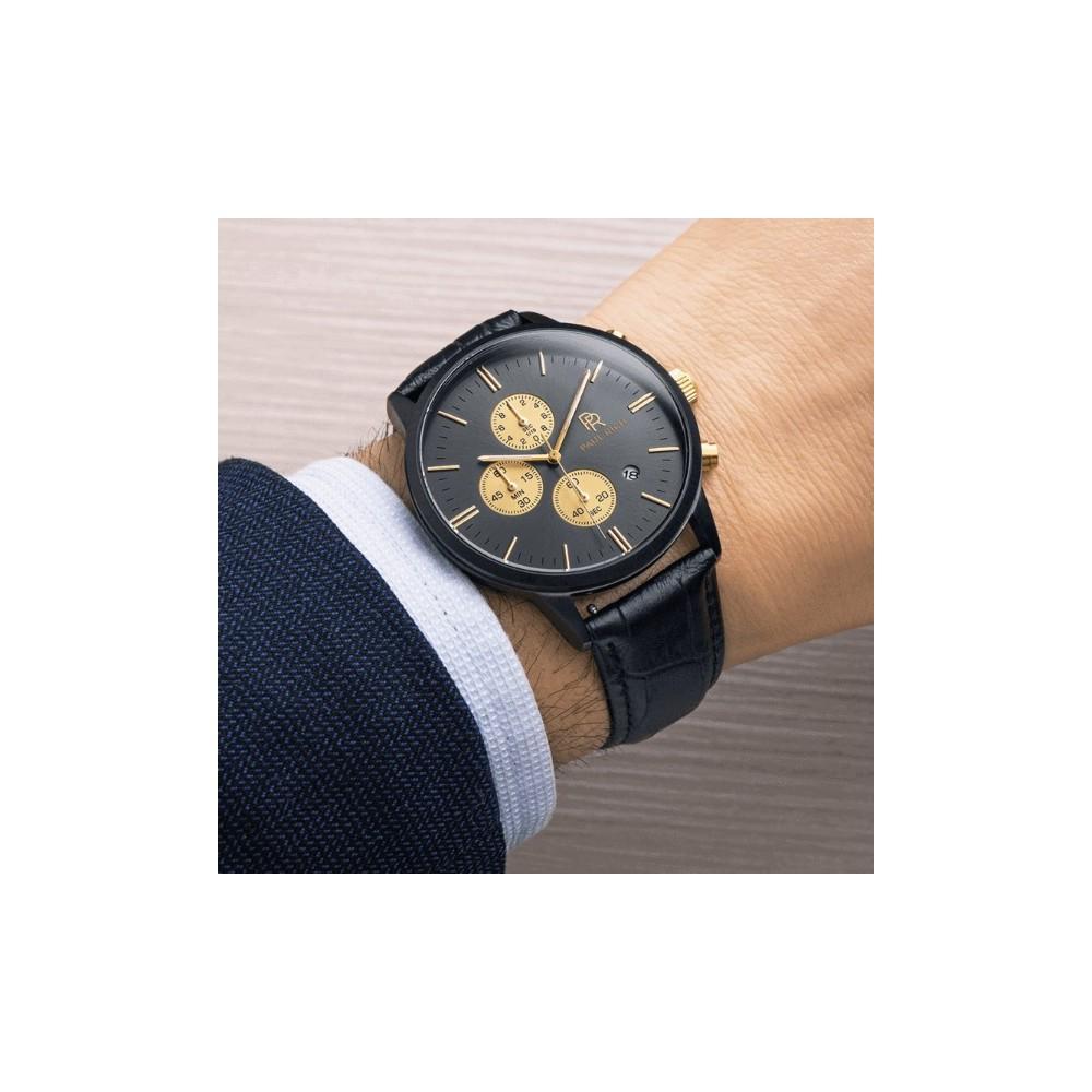 63490c6a1c Paul Rich Zenith Black Leather ur - 1-2 dages levering på Paul Rich.