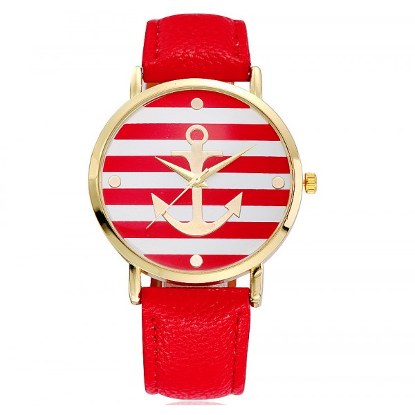 The Anchor watch red